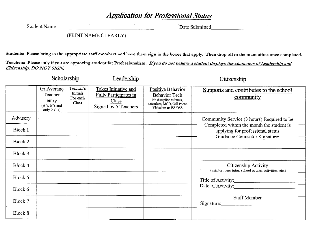 Pathways Professionals Form